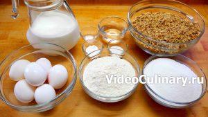 Ингредиенты Простой бисквитный ореховый рулет