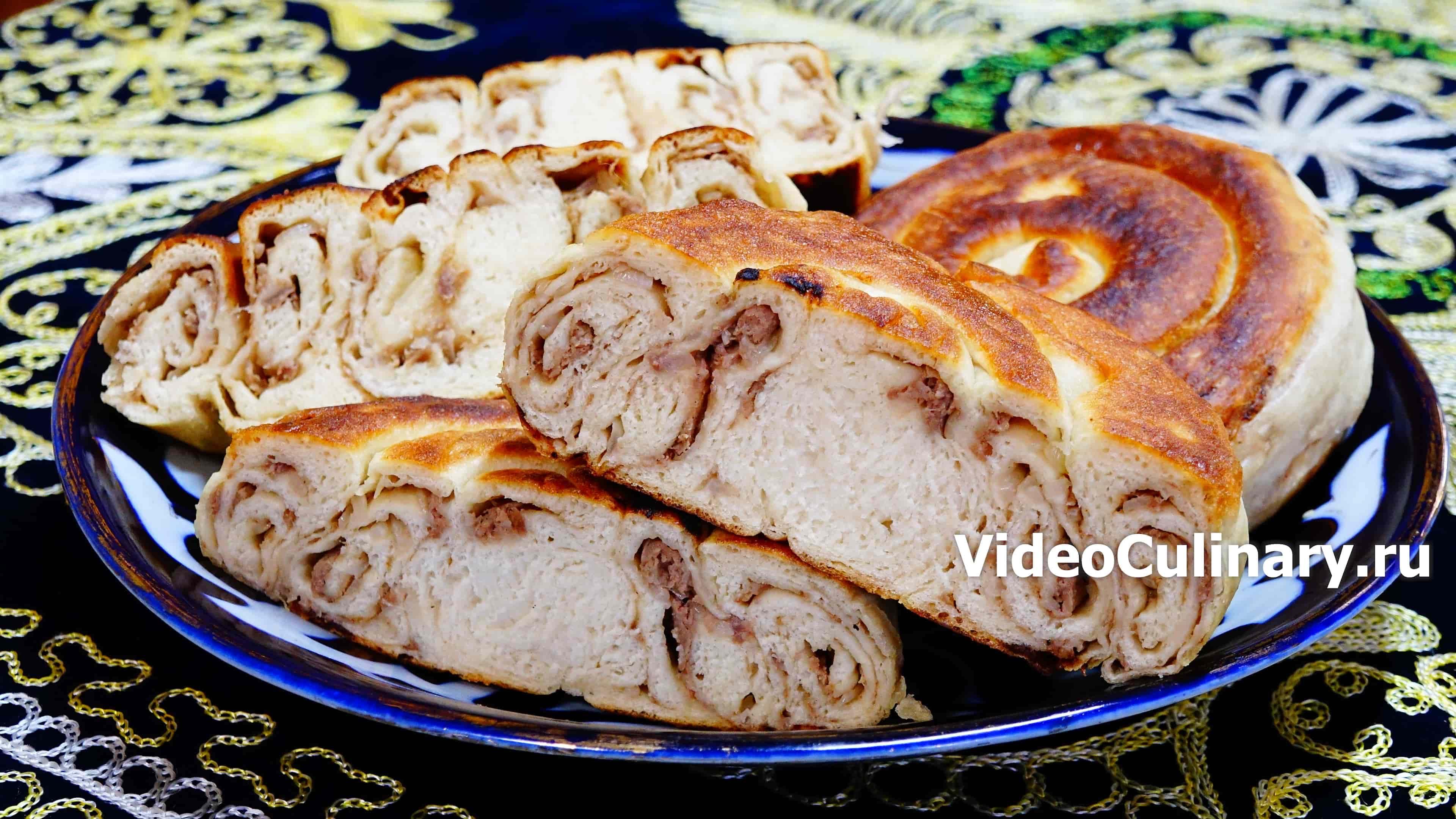 Жареная лепешка с мясом
