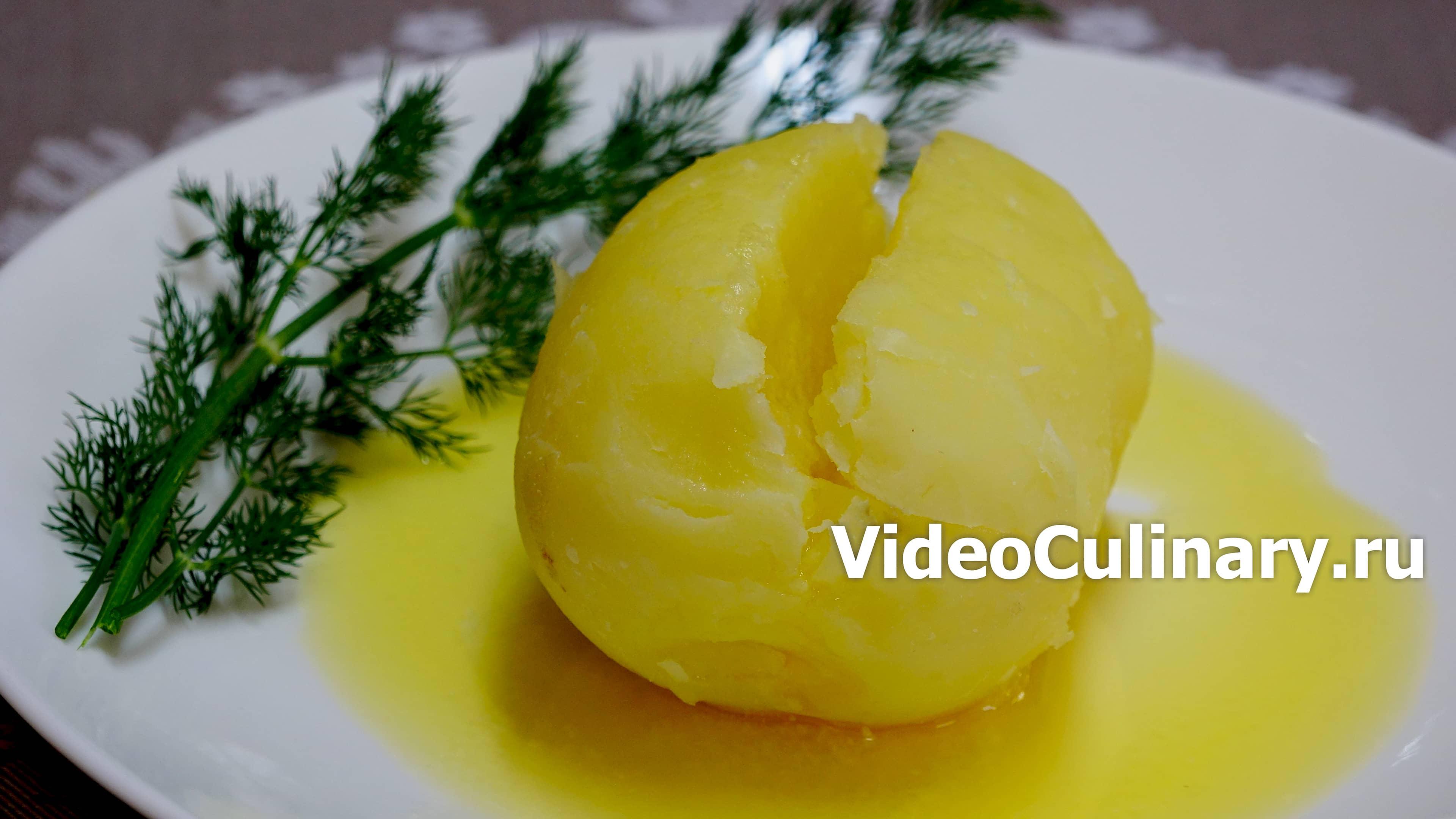 Запечёная картошка за 5 минут