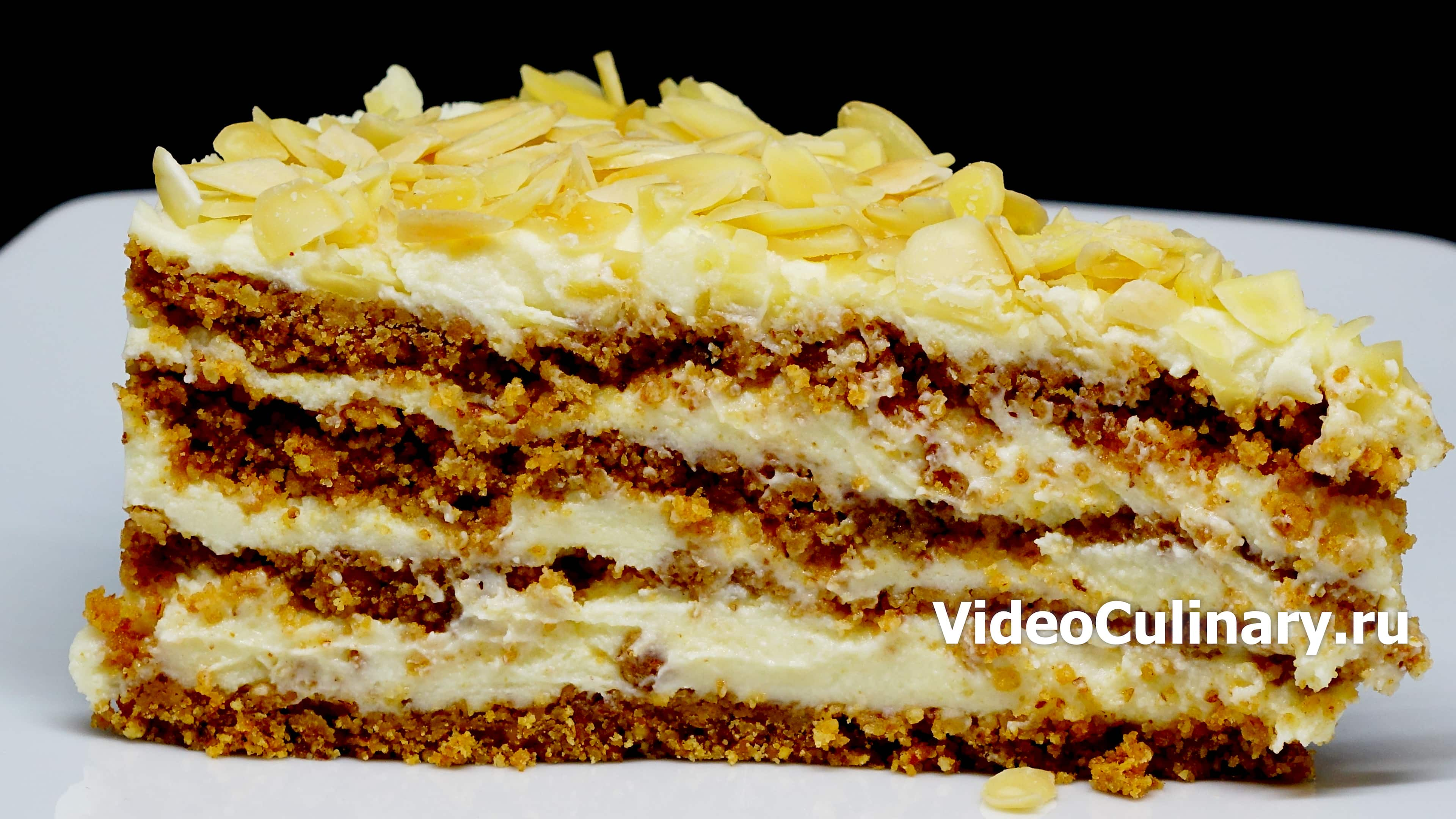 Торт Пломбир без выпечки